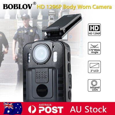HD 1296P Security Body Worn Camera Police Pocket Video Recorder Night Vision Cam