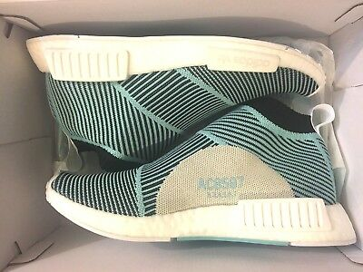 1547056409c New Adidas Nmd Cs1 Parley Primeknit Pk City Sock Blue Shoe Ac8597 Men Size 7