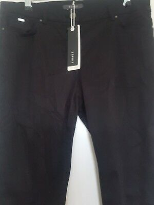 Esprit black soft satin pants, size 12, New with tags