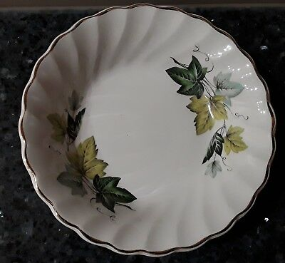 Myott Staffordshire Evergreen Round Butter/Pin Dish Made in England