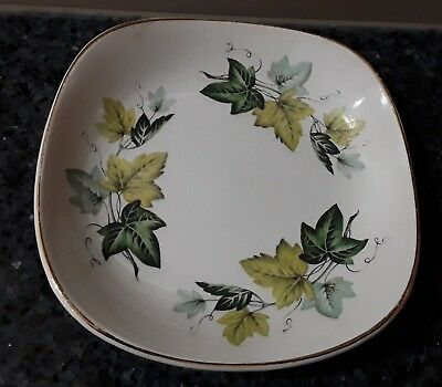 Myott Staffordshire Evergreen Square Butter/Pin Dish Made in England