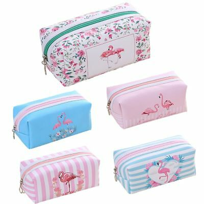 Women Fashion Flamingo Cosmetic Storage Bag Zipper Pouch Toiletry Coin Handbag