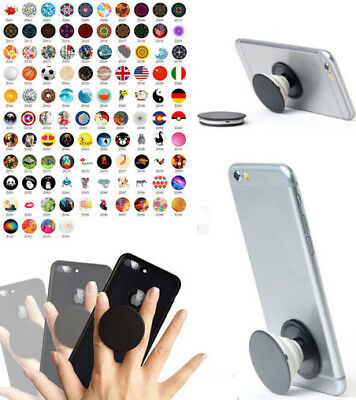 4x Expanding Pop Up Phone Grip-Holder-Stand-Hand Ring & Mount for iPhone+Samsung