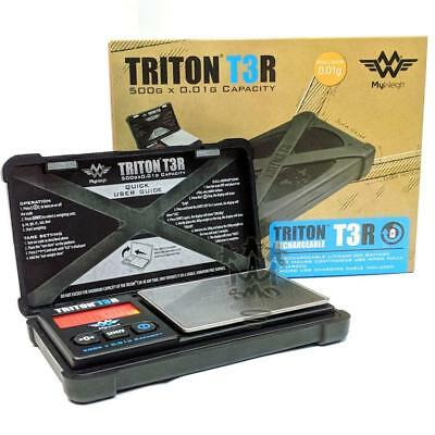 MY WEIGH Triton T3R Micro USB Rechargeable 500g x 0.01g Precision Pocket Scales
