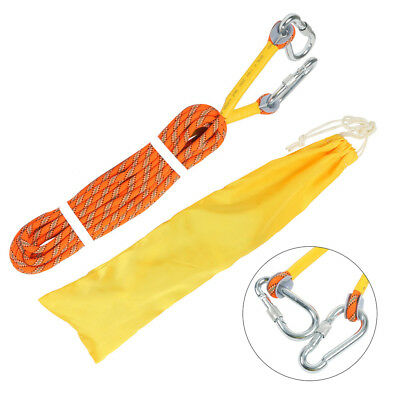 10M Climbing Rope Outdoor Safty Mountain Rescue Escape Rappelling Auxiliary New