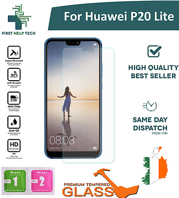 For Huawei P20 Lite - Premium Tempered Glass Screen Protector Guard Film