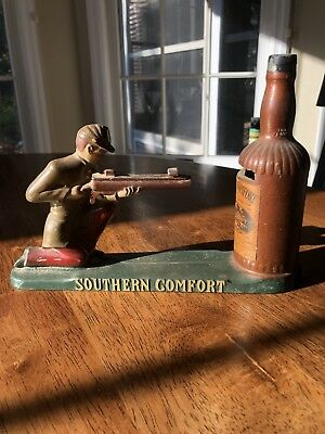 Vintage 1950's Advertising Southern Comfort Confederate Soldier Mechanical Bank