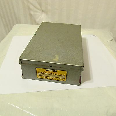 Kodak 35mm Slide Compartment File Metal Vintage 1950's Made in the USA