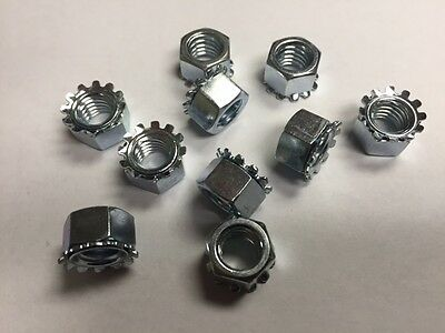6/32 Keps Lock  Nuts Steel Zinc Plated 500 count box