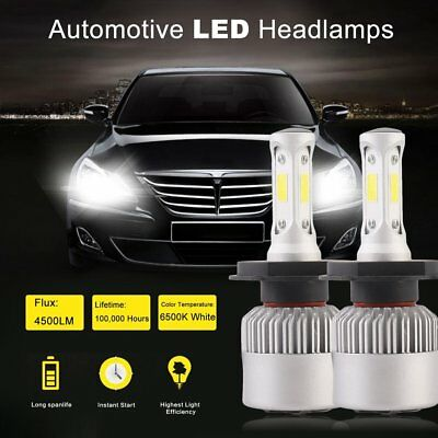 Nighteye 72W 9000LM H4 S2 LED Headlight Kit Hi/Lo Beam Globe Bulbs 6500K White