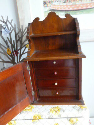 Vintage antique mahogany miniature chest of drawers cupboard apprentice piece