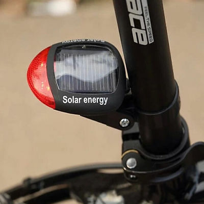 Solar Powered LED Rear Flashing Tail Light for Bicycle Bike Cycling Lamp Safety