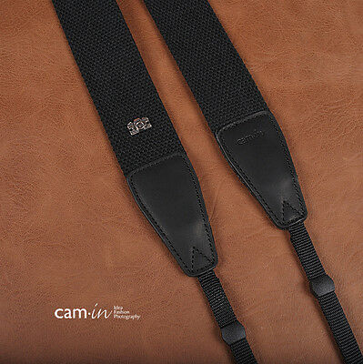 Black Adjustable Non-slip DSLR Camera Strap by Cam-in CAM1201A UK Stock
