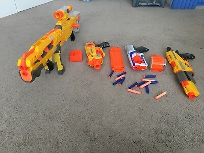 Nerf guns bundle with bullets