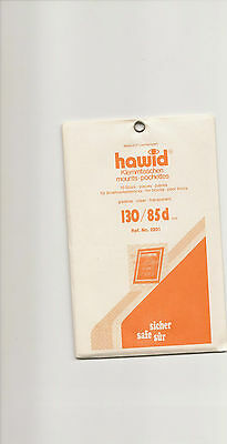 HAWID MOUNTS 130x85 mm strips clear pack of 10