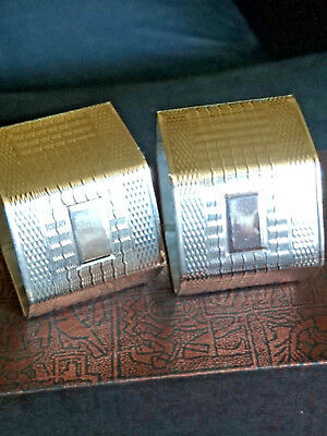 Art Deco Sterling Silver Napkin Rings