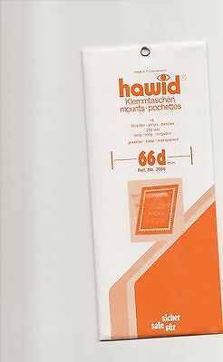 HAWID MOUNTS 210x66 mm strips clear pack of 10