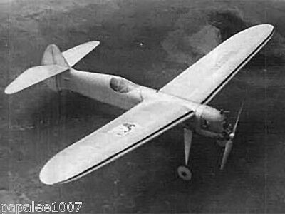 Model Airplane Plans (FF): 1938 Little Lancer 45 for 1/2A Texaco