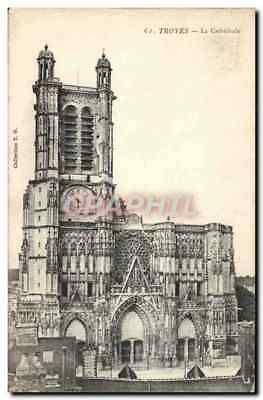 CPA Troyes La Cathedrale