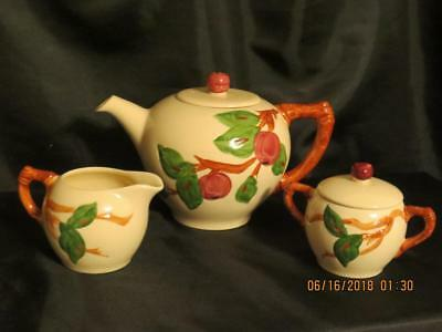 FRANCISCAN  'APPLE'  TeaPot, Creamer & Sugar Bowl~Mint Condition