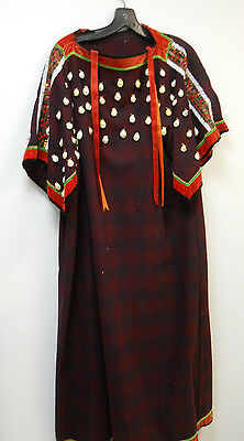 Native American Plateau Indian Wool Trade Cloth Dress with Cowries/bead work!