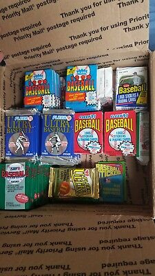 Old Baseball Cards - Unopened Packs from Wax Box.  Huge Vintage 100 Card Lot