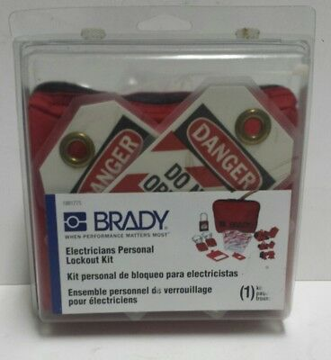 Brady Electricians Personal Lockout Kit-Lock Tag Out-1881775 - Save on 2 or more
