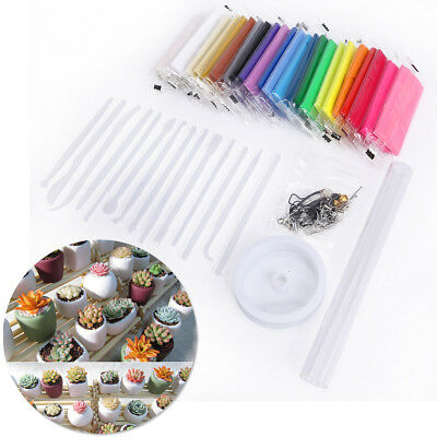 24 Colors Oven Bake Polymer Clay Block Modelling Moulding Sculpey Tool set