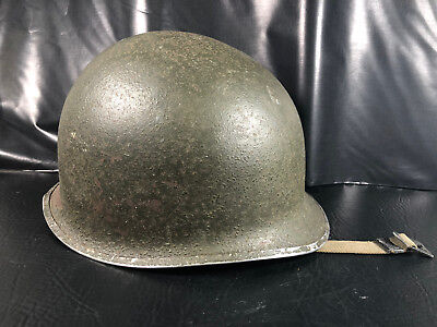 Original WWII  M-1 Helmet 101st Airborne with Liner  (Named) Front Seam RARE