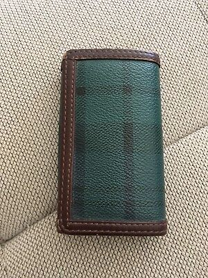 Polo used Blackwatch Green Plaid Check Key Wallet Ralph Lauren