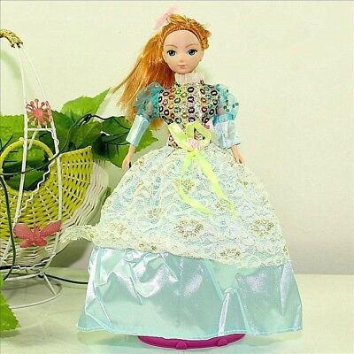 Handmade Party Dress Fashion LBlue Clothes For Barbie Doll Outfit Gown Wedding