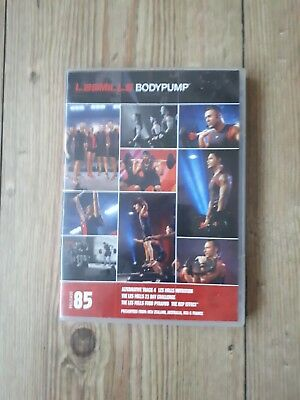 les mills body pump 85 CD and DVD with choreography notes.