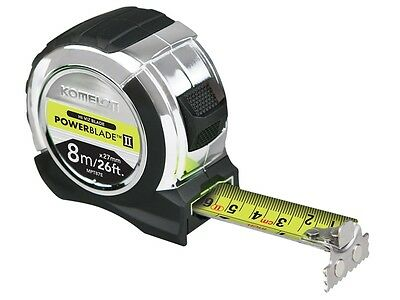 Komelon KOMMPT826E Power Blade Tape Measure 8m / 26ft (Width 27mm) MPT87E New