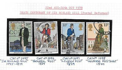 1979 Death Centenary of Sir Roland Hill used stamp set