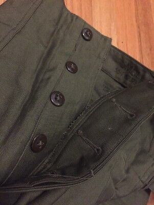 Vintage WWII KOREA War US Army Military Utility Trousers Uniform Pants. NOS.