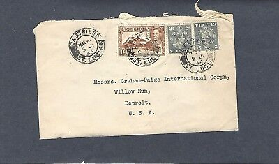 1947 Kgvi St Lucia To Graham-Paige Corp.,willow Run,mich Commercial Cover