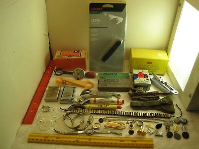 vintage junk drawer lot,jewelry,knives,bottle openers,kitchen,watches,lighters