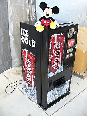 MINI size COCA COLA SODA VENDING MACHINE- ONLY 4 1/2 FT tall---pepsi-coke-beer