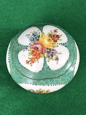 Antique 18th C Sevres Lidded Trinket Box Pot Dish Beautifully Decorated