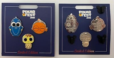 Pixar Fest 2018 Finding Nemo Dory Squirt Set of 3 Pins LE 1500 Disneyland