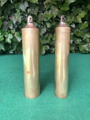 Vintage Pair of Brass Wall/ Longcase/ Grandfather Clock Weights