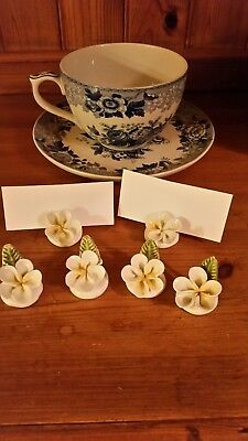 vintage afternoon tea 1950s name place card holders