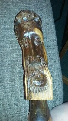 Wooden hand carved head fro Jamaica