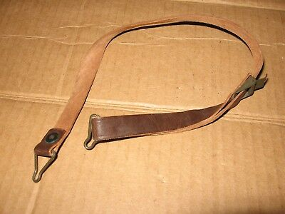 US WWII WW2 M1 helmet liner leather chin strap green buckle super nice