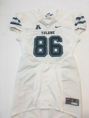 differently ca9a1 dc7fd Game Worn Used Nike Tulane Green Wave Football Jersey Size Medium  86