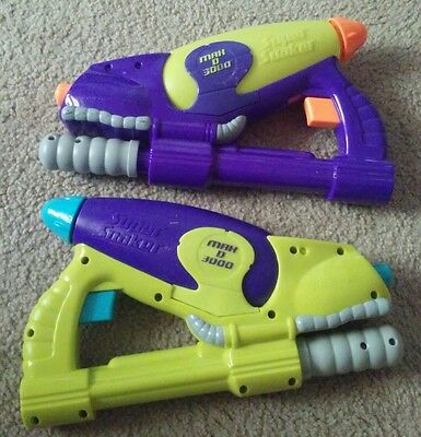 Super Soaker MAX D 3000 Water 2001 Larami NERF Lot of 2 Vintage Toy