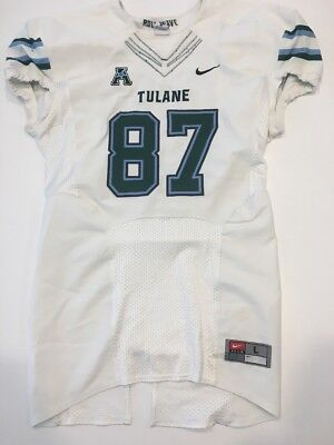 6f5ab45d1 Game Worn Used Nike Tulane Green Wave Football Jersey Size Large  87