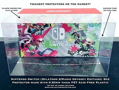 1 Console .50mm Box Protector Nintendo SWITCH MARIO ODYSSEY SPLATOON Console Box