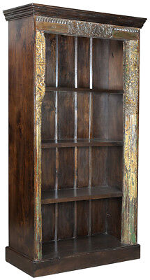 Antique Door Frame Carved Wood Ornate One of a Kind Bookcase/Cabinet,41'' x 76''