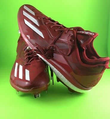 low priced adf5d 3abe0 Adidas Energy Boost Icon 2.0 Red Mens Size 14 Metal Baseball Cleats B72823  MLB